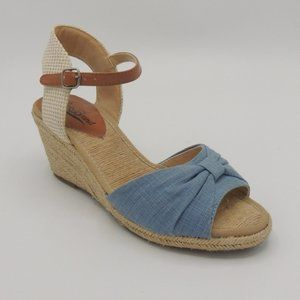 LUCKY BRAND KAVALA Wedge Heels Shoes Buckle Slingb